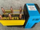 9.3mmBULLETS (50)BARNES 286 GRAIN SOLIDS AND ( 39 )SPEAR 270GRAIN BULLETS