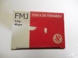 S&L7.62X25TOKAREV85 GR. F.M.J.AMMO - 2 of 6