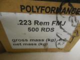 223AMMOW.P.A.NONCORROSIVEBERDANPRIMED55 GR.F.M.J.- 1 of 6