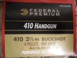 "410PERSONALDEFENSE,HANDGUN / SHOTGUN2 1/2""000BUCKSHOT4PELLETS850F.P.S.GREATFORTHEJUDGE- 9 of 11"