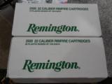 REMINGTON22 L.R.AMMO100PERBOXGOLDENBULLETBRASSPLATED1255F.P.S.40GRAIN - 9 of 12