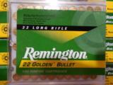 REMINGTON22 L.R.AMMO100PERBOXGOLDENBULLETBRASSPLATED1255F.P.S.40GRAIN - 3 of 12