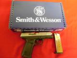 """S&W9-MM,SD9VE,Smith & Wesson,223900,4""""BARREL16+1TWO MAGS.Blk Poly Grip Black Frame/SS Slide,FACTORYNEWINBOX - 1 of 16"""