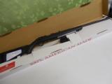 RUGERAMERICAN22 L.R.BOLTACTION,MATTE BLACK COMPOSITE,Williams fiber optic front sight,Black composite stockNEWINBOX