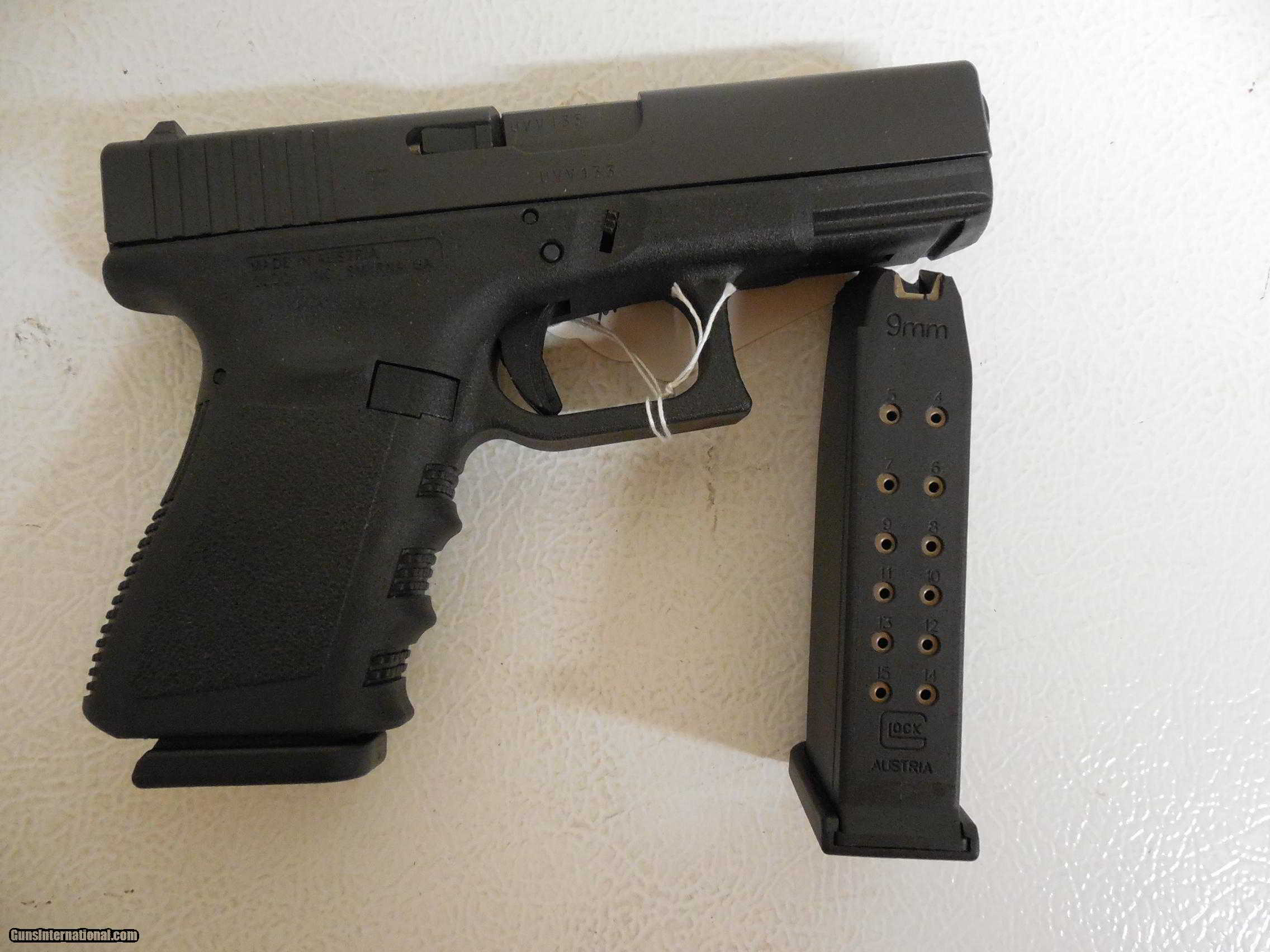 Glock 19 Pistol Outline Wiring Diagrams Simple Event Counter Circuit Diagram Tradeoficcom G Generation 3 9 Mm 2 15 1 Round Magazines 4 0 Rh Gunsinternational Com 18 22 Dimensions