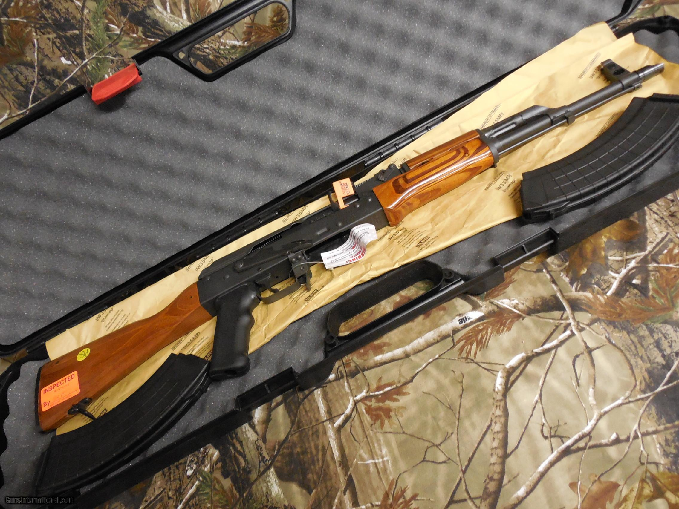 AK 47 INTER ORDNANCE 7 62 X 39 TACTICAL RIFLE WOOD STOCK