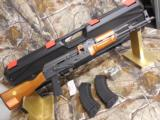 AK - 47, INTER-ORDNANCE, 7.62 X 39, TACTICALRIFLE, WOOD STOCK, BAYONETLUG, ADJ. SIGHTS, COMESWTIHTWO 30 RDMAGAZINES, FACTORYNEWINBOX
