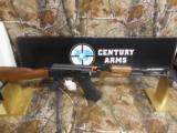 AK-47CENTURYARMSRAS47S,7.62 x 39,2 - 30ROUNDMAG,WALNUTSTOCK,SIDESCOPEMOUNT,ADJ.SIGHTS,AMERICANMADE,NEWINBOX - 3 of 23