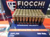 FIOCCHI22 - L. R.,STANDARDVELOCITY,40GRAINLEADROUNDNOSE,1.070F.P.S. 500ROUNDBOXES- 6 of 15