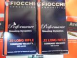 FIOCCHI22 - L. R.,STANDARDVELOCITY,40GRAINLEADROUNDNOSE,1.070F.P.S. 500ROUNDBOXES- 2 of 15