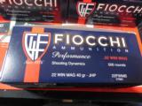 FIOCCHI22 WIN.MAGNUMHIGHVELOCITY,40GRAINJ. H. P. ,1.910F.P.S. 500ROUNDBOXES- 6 of 15