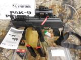 CHARLESDALY AK- 9- MMPISTOL, WITH EXTRAS,USESBERETTA TYPE 92 MAGSORGLOCK MAGS,3 MAGS,REDDOTSCOPE,SLING,FACTORY NEW IN BOX. - 5 of 21