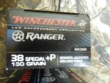 38SPECIAL+ P,WINCHECTERRANGER,130GR.BONDEDJACKETEDHOLLOWPOINT,50ROUNDBOXES.- 5 of 20