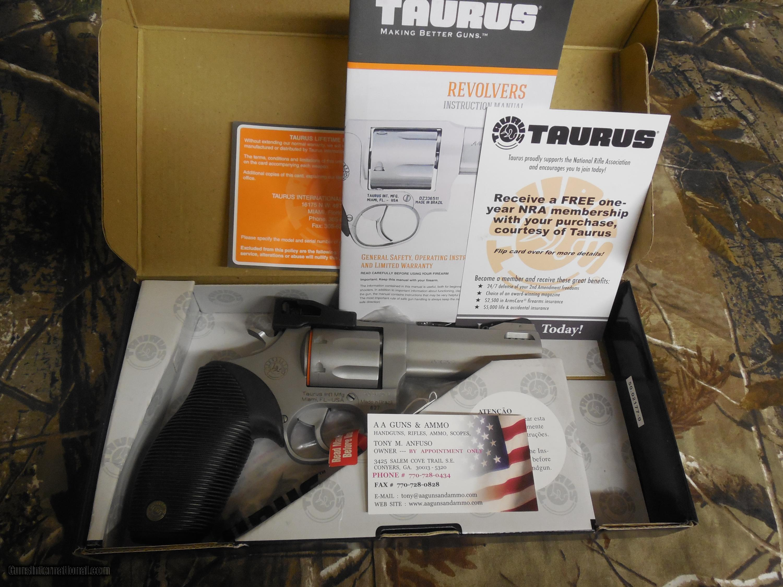 TAURUS 627 TRACKER, 357 MAGNUM, 7 SHOT REVOLVER, S / S, 4