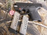 """Smith & Wesson 11671 M&P 9 Shield M2.0 Crimson Trace Red Laser Double 9mm Luger 3.1"""" 7+1/8+1 MS Black Polymer Grip/Frame Black Armornite Stainles - 16 of 23"""