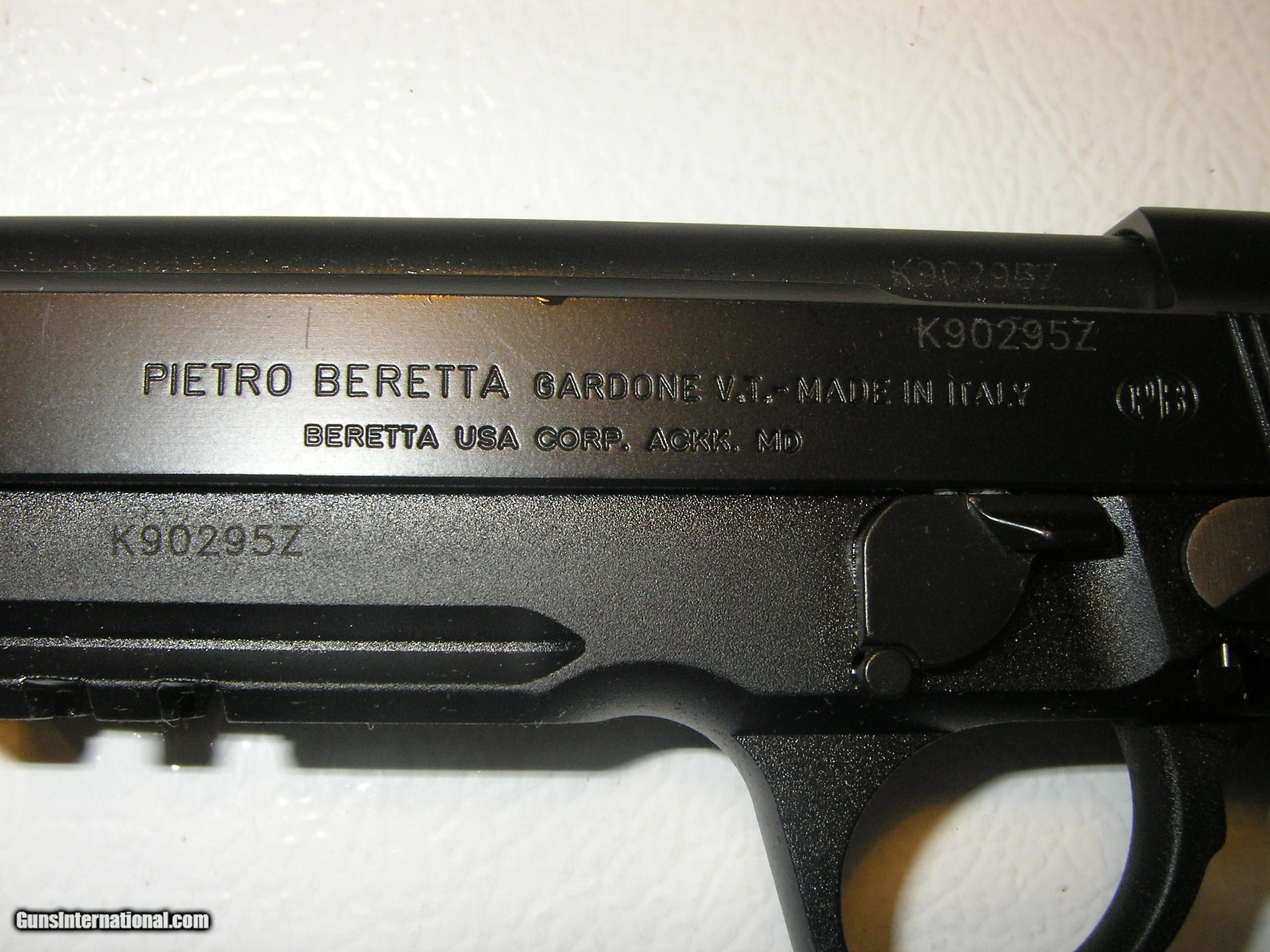 BERETTA 92-A1, 9-MM, 3-17 ROUND MAGAZINES, COMBAT SIGHTS, 4 9