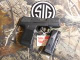 """SIG / SAUERP365,3659BXR3Micro - Compact,Double, 9mm Luger, 3.1"""", 2-10+1flush fit and extended gripBlack Polymer Grip Black Stainless - 2 of 25"""