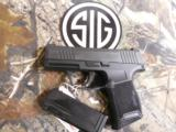 """SIG / SAUERP365,3659BXR3Micro - Compact,Double, 9mm Luger, 3.1"""", 2-10+1flush fit and extended gripBlack Polymer Grip Black Stainless - 3 of 25"""
