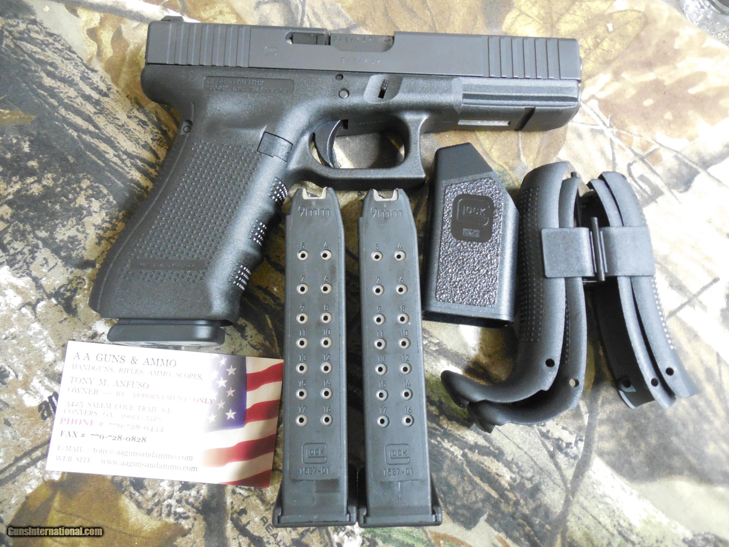 GLOCK, MODEL: GEN 4 17 FS, 9-MM, NEW RECEIVER WITH FRONT & REAR ...
