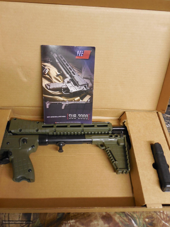kel tec sub 2000 g2 9mm 17 rd glock 17 9mm green grip takes all