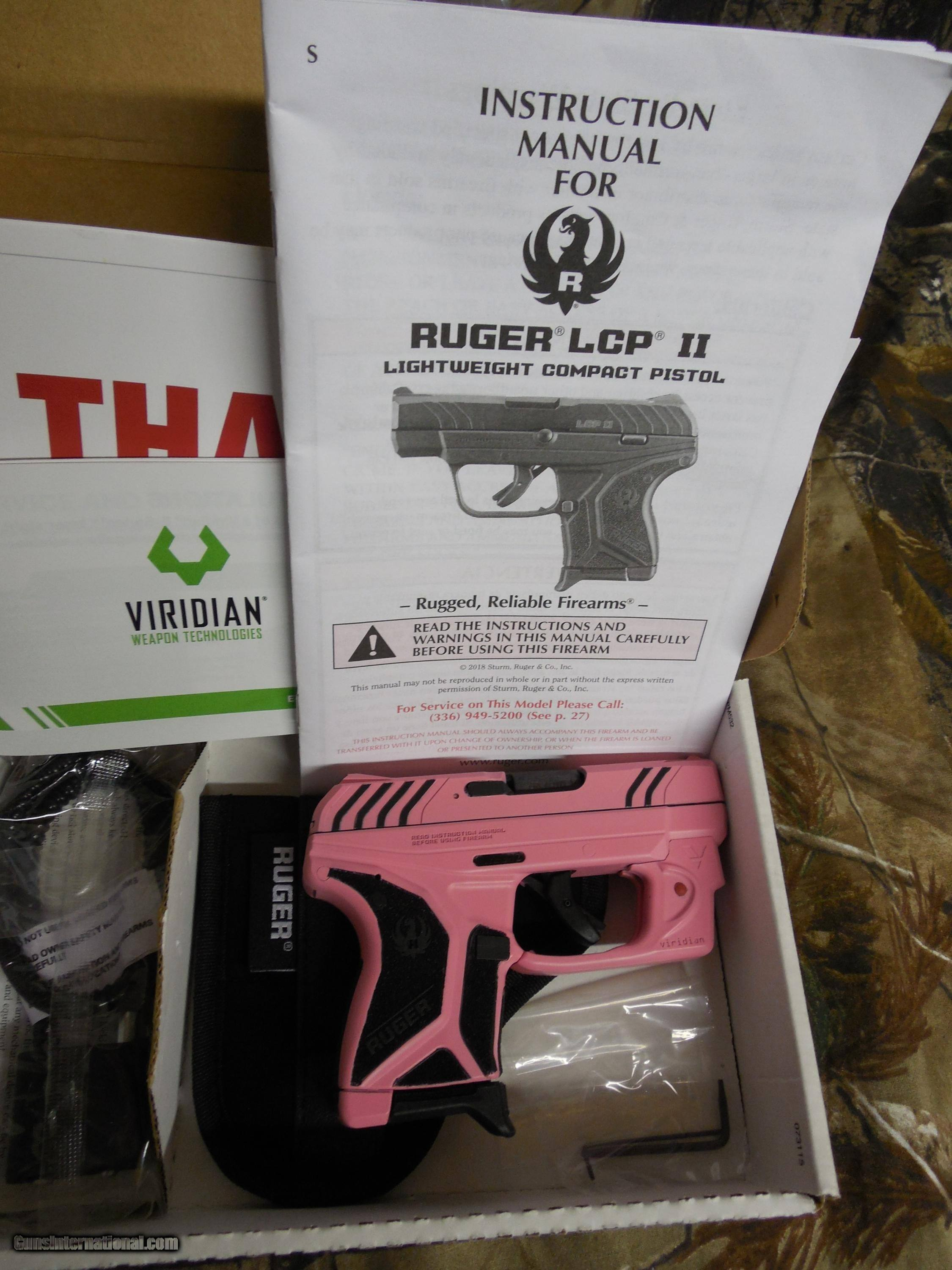 ruger lcp ii with viridian red laser carring pouch 380 acp