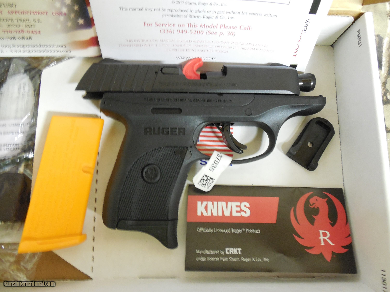 Ruger EC9s, Standard Double, 9 mm Luger, 3 12