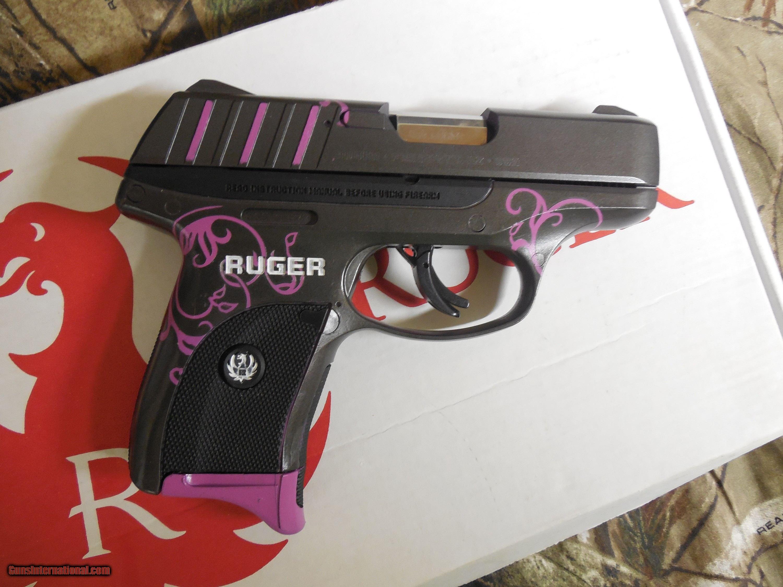RUGER EC9s, CUSTOM MUDDY GIRL, 9-MM, 7 + 1 ROUND, 3 12