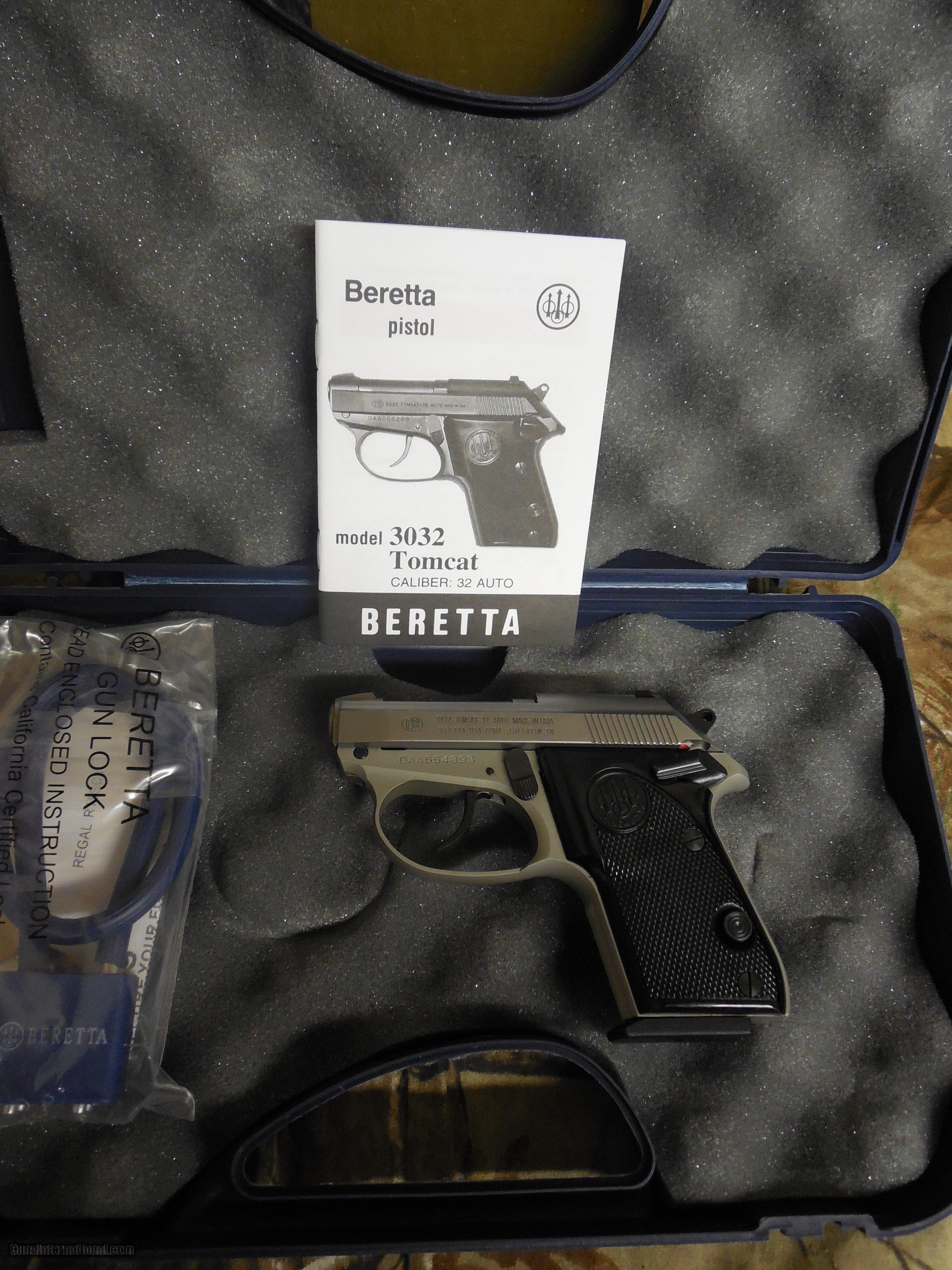 beretta 3032 inox tomcat 32 acp 2 4 barrel 7 1 rds black