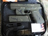 GLOCKG-21 GEN-4, PRE OWNED, NEW CUSTOM CERAKOTING CAMOAS CLOSE TO NEW AS YOU CAN GET, 3-13 RD. MAGS,NIGHT SIGHTS,WITHORIGINALPAPER , CASE, - 2 of 22
