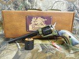 """HERITAGECOMBO,22-L.R, / 22 MAGNUM,( TWO CYLINDERS),6.5""""BARREL,6 - SHOT,BLUED/C. COLORED LAMINATE GRIP,FACTORYNEWINB - 3 of 21"""
