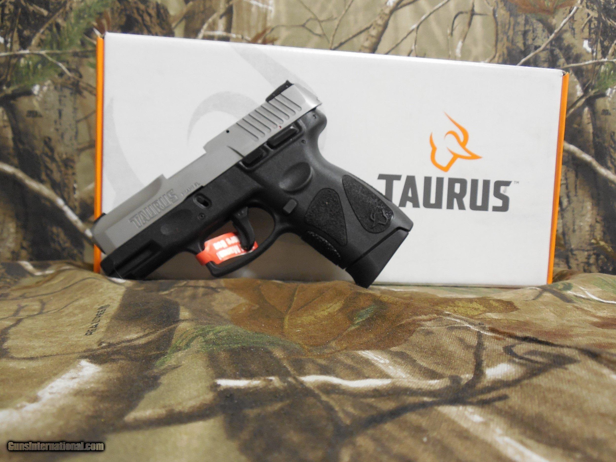TAURUS G2c MATTE S/S SLIDE BLACK , 9 - MM, 2 - 12 + 1 ROUND