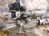AR-15PSA, CUSTOM,7.62X39,BIG BORE RFILESCOPE 2.5-10X40 RED/GREEN, W/ MIROC RED DOT SIGHT, QUAD RAIL, BI-POD, 2 CAMOMAGS, BAYONET.ALL NEW - 10 of 25