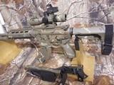 AR-15PSA, CUSTOM,7.62X39,BIG BORE RFILESCOPE 2.5-10X40 RED/GREEN, W/ MIROC RED DOT SIGHT, QUAD RAIL, BI-POD, 2 CAMOMAGS, BAYONET.ALL NEW - 7 of 25