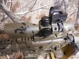 AR-15PSA, CUSTOM,7.62X39,BIG BORE RFILESCOPE 2.5-10X40 RED/GREEN, W/ MIROC RED DOT SIGHT, QUAD RAIL, BI-POD, 2 CAMOMAGS, BAYONET.ALL NEW - 8 of 25