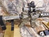 AR-15PSA, CUSTOM,7.62X39,BIG BORE RFILESCOPE 2.5-10X40 RED/GREEN, W/ MIROC RED DOT SIGHT, QUAD RAIL, BI-POD, 2 CAMOMAGS, BAYONET.ALL NEW - 3 of 25