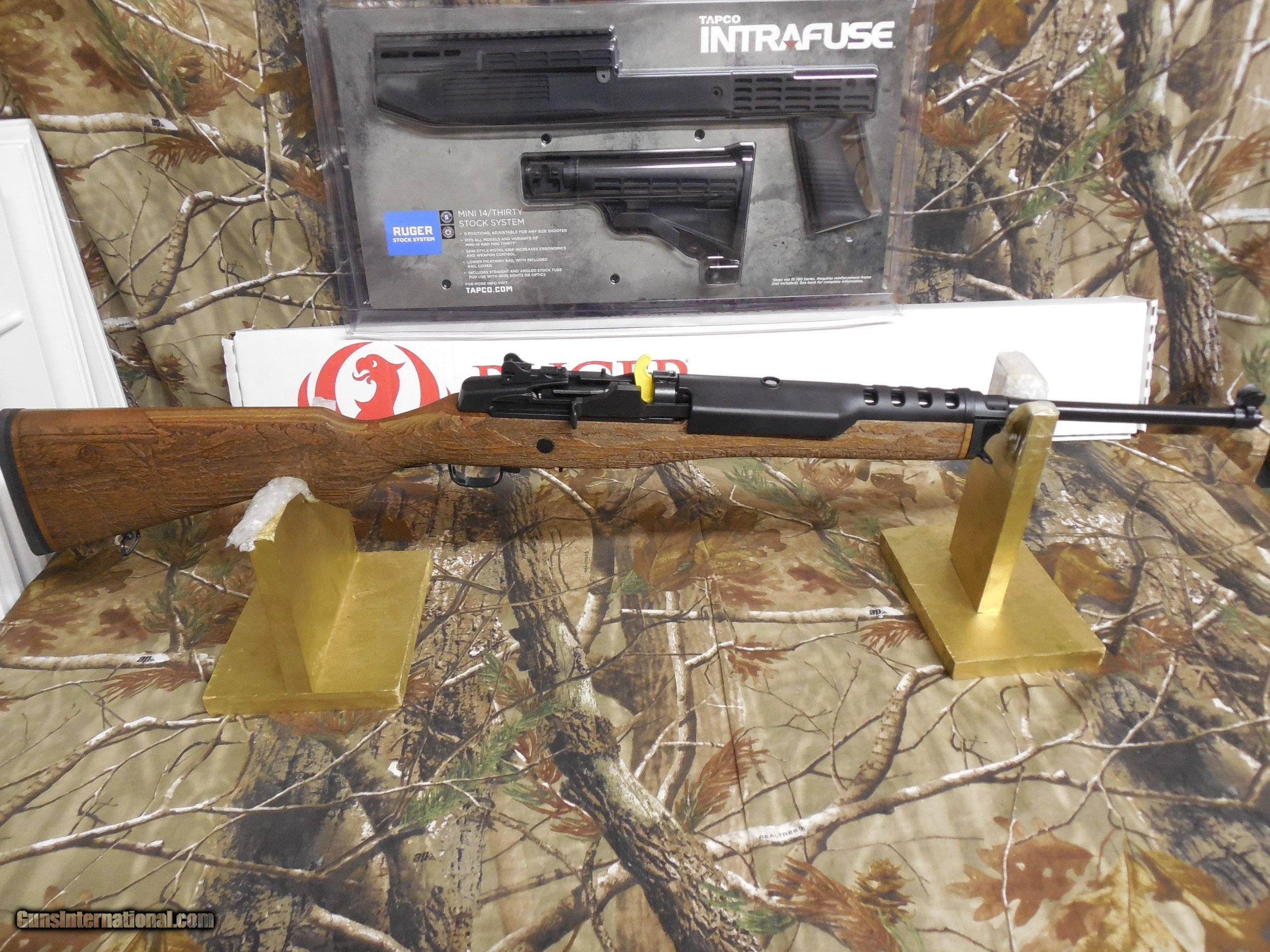 RUGER MINI 14, ENGRAVED LIMITED EDITION OF 750 MADE, 223