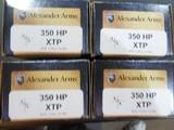 50BEOWULF,ALEXANDERAMMO,350 GRAINXTP-JHP,20ROUNDBOXES,NEWINBOX. - 3 of 15