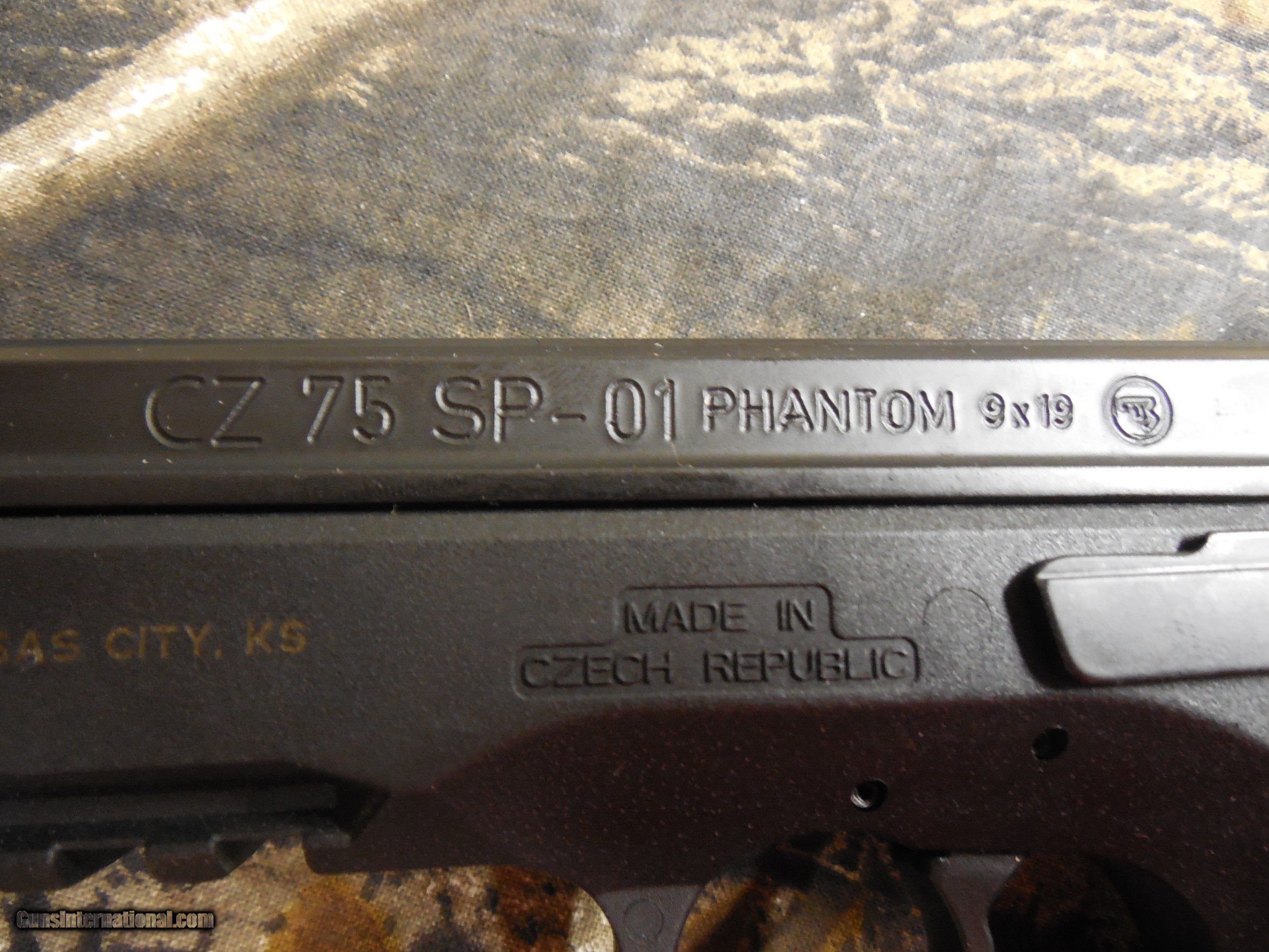 CZ 75 SP-01, PHANTOM, FS, 9-MM, 2 - 18 + 1 RD  MAGAZINES, COMBAT