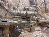 "AR-15CUSTOMP.S.A. 223/5.56 NATO,MILITARY COMOUFLAGE, RED/GREEN SCOPE, BAYONET, 10.5"" BARROL +5""MUZZAY BREAK, SLIDEING STOCK, BI-POD, - 9 of 26"