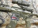 "AR-15CUSTOMP.S.A. 223/5.56 NATO,MILITARY COMOUFLAGE, RED/GREEN SCOPE, BAYONET, 10.5"" BARROL +5""MUZZAY BREAK, SLIDEING STOCK, BI-POD, - 3 of 26"