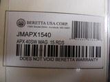 BERETTAAPX,40S&W,15 ROUNDMAGAZINE,JMAPX1540FACTORYNIWINBOX - 3 of 14