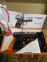 """Taurus 1G2C403910 G2C 40 Smith & Wesson (S&W) Double 3.2""""2 10+1 MAGS. Black Polymer Grip Polymer Frame Stainless Steel Slide, FACTORY"""