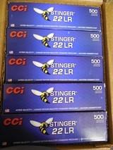 CCIAMMOSTINGER.22 L.R. 1,640 F. P. S.MuzzleEnergy: 191 ft lbs.32 GR. J.H.P. 50-PACK,FACTORYNEWINBOX...( THE BEST ) - 8 of 21