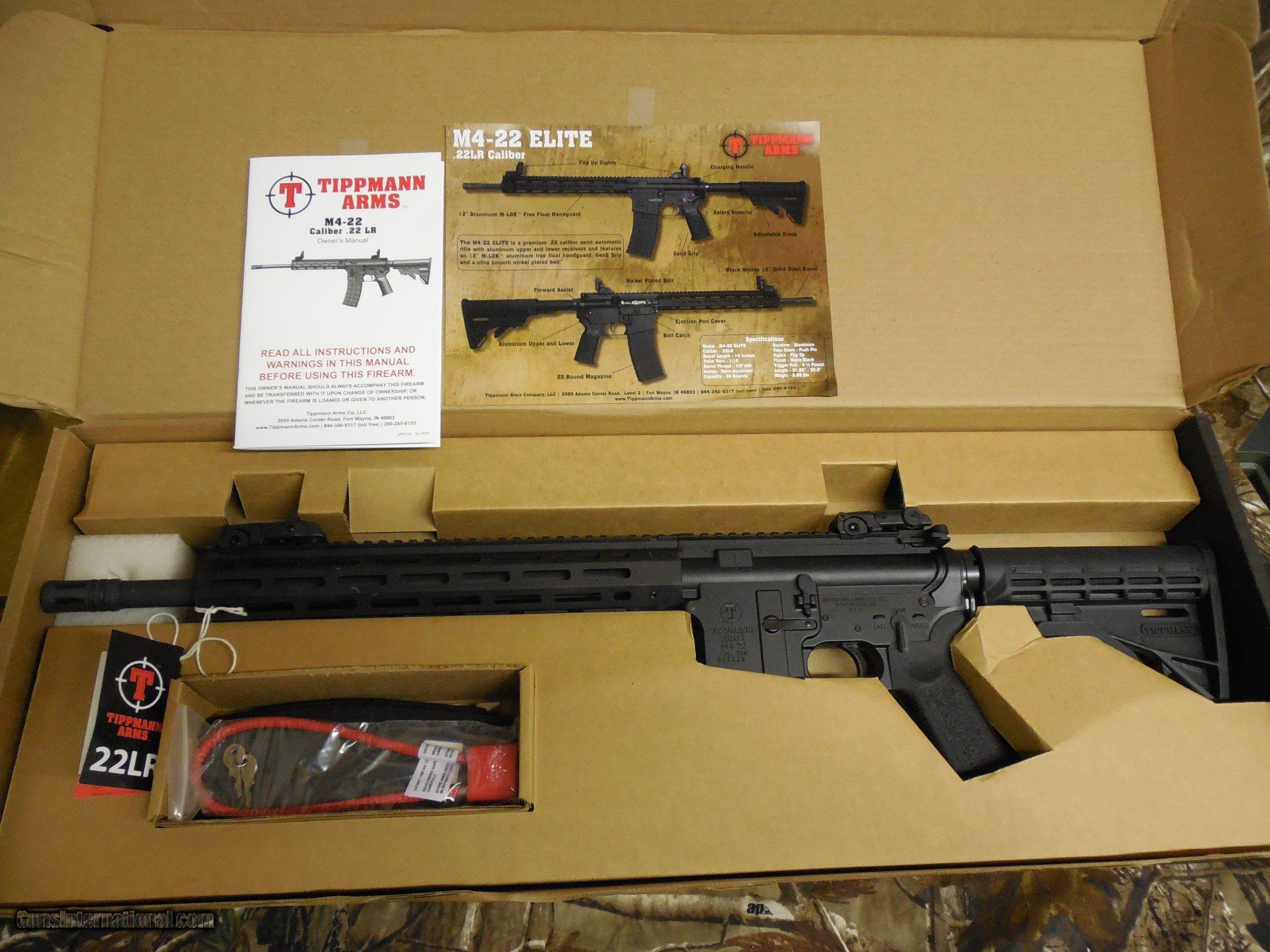 AR-15 M4 22-L R  TIPPMANN ELITE-L TACTICAL RIFLE, 25 ROUND