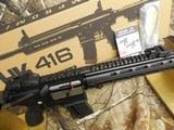 "H&K # 81000401,HK 416 Semi-Automatic22 L.R.Semi-Automatic,22 Long Rifle, 16.1""BARREL,20+1 ROUND MAG,Retractable Black Stk Black - 12 of 26"