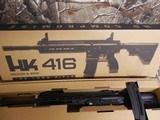 "H&K # 81000401,HK 416 Semi-Automatic22 L.R.Semi-Automatic,22 Long Rifle, 16.1""BARREL,20+1 ROUND MAG,Retractable Black Stk Black"