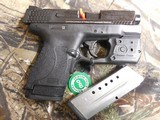 """Smith & Wesson 11811 M&P 9 Shield M2.0 With Green Laser & Light, 9mm Luger 3.1"""" 7+1/8+1 Black Grip/Frame Grip Black Armornite Stainless Steel - 6 of 20"""