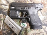 """Smith & Wesson 11811 M&P 9 Shield M2.0 With Green Laser & Light, 9mm Luger 3.1"""" 7+1/8+1 Black Grip/Frame Grip Black Armornite Stainless Steel - 5 of 20"""