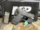 "Smith & Wesson, M&P 40 Shield M2.0, GREEN LASER & LIGHT, 40 S&W,3.1"" Barrel, 6+1 & 7+1 RD. MAGAZINES,Black Armornite Stainless Steel Slid, NE - 3 of 19"