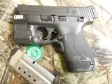 "Smith & Wesson, M&P 40 Shield M2.0, GREEN LASER & LIGHT, 40 S&W,3.1"" Barrel, 6+1 & 7+1 RD. MAGAZINES,Black Armornite Stainless Steel Slid, NE - 5 of 19"